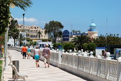 Garrucha promenade, Spain. Royalty Free Stock Photography