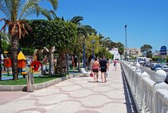 Garruchas promenade, Spain. Royalty Free Stock Photography