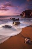 Garry Beach - solnedgång Royaltyfri Foto