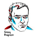 Garry Kasparov Portrait royalty illustrazione gratis