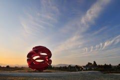 garry parka punktu Richmond rzeźby fala wiatr Zdjęcie Royalty Free