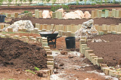 Garten-Aufbau Stockbild