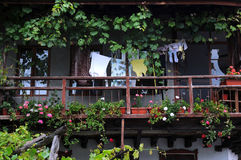 Garten-Balkon in Bulgarien Lizenzfreie Stockfotografie