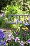 Garten-Bank Stockfoto