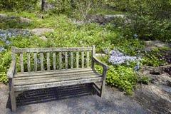 Garten-Bank stockbild