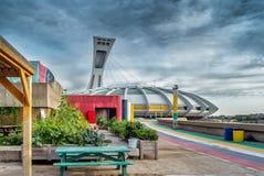 Garten beim Olympiastadion Lizenzfreies Stockfoto