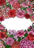Garten-Blumen verspotten oben lizenzfreie abbildung
