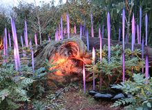 Garten Chihuly im Freien Lizenzfreie Stockfotografie