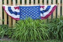 Garten der amerikanischen Flagge Lizenzfreie Stockfotografie