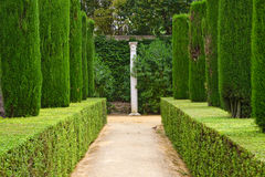 Garten der Dichter, Alcazar-Palast Lizenzfreie Stockfotos