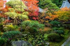 Garten der japanischen Art in Kyoto Stockbild