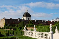 Garten des Belvedere-Palastes in Wien, Österreich Lizenzfreie Stockfotos