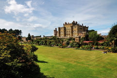 Garten des Culzean Schlosses Stockbild