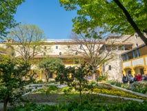 Garten des Krankenhauses in Arles, Frankreich stockfotos