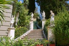 Garten des Palastes Achilleon Stockbild