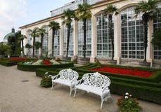 Garten des Schlosses in Kromeriz Stockbilder