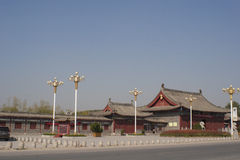 Garten des traditionellen Chinesen von Taihao-Mausoleum Stockbild