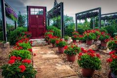 Garten-Design auf Anzeige Lizenzfreies Stockbild
