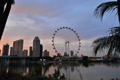 Garten durch den Schacht Singapur Stockbild