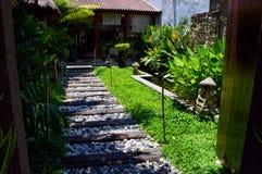 Garten in einem Yard eines Hauses in Malakka, Malaysia stockfoto