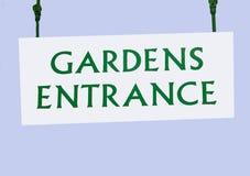 Garten-Eingangszeichen Stockfotografie