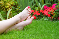 Garten-Füße stockbild