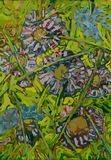 Garten-Grenzchaos Stockfoto