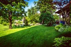 Garten-Hinterhof-Teich Lizenzfreie Stockbilder