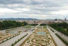 Garten im Belvedere-Palast stockfotografie