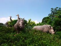 Garten im des Noahs Archenpark lizenzfreies stockbild