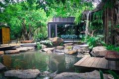 Garten im Restaurant Stockbilder