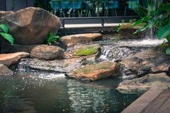 Garten im Restaurant Lizenzfreie Stockfotografie
