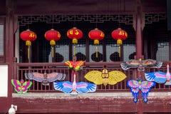 Garten-Kunst in der Front von Jiao - Shan Park herein Stockbild