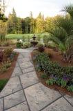 Garten mit einer Ansicht 2 Lizenzfreie Stockbilder