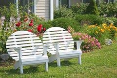 Garten-Mond-Stühle Lizenzfreie Stockfotos