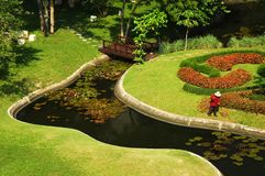 Garten in Pattaya Stockfoto
