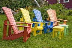 Garten-Stühle Stockfoto