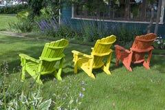 Garten-Stühle Stockfotografie