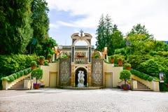 Garten in Stresa auf Maggiore See, Italien stockfotos