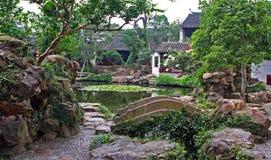 Garten in Suzhou nahe Shanghai, China Lizenzfreies Stockfoto