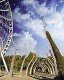 Garten und Architektur in Brisbane lizenzfreie stockfotos