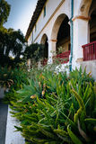 Garten und der alte Auftrag Santa Barbara, in Santa Barbara, Cali Lizenzfreies Stockbild