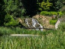 Garten und Fluss Lizenzfreies Stockbild