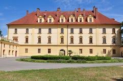 Garten und Schloss Lipnik nad Becvou Stockfotos