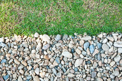 Garten und Stein stockfotografie
