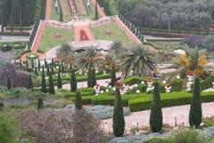 Garten und Terrassen Haifu, Israel - 24. März 2018 Lizenzfreie Stockbilder