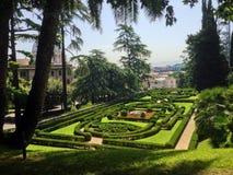 Garten in Vatikan Stockfotos