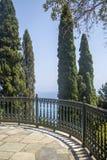 Garten von Achilleion, Korfu, Griechenland Lizenzfreies Stockfoto