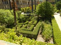 Garten von Alcazar auf Sevilla stockbilder