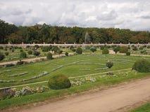 Garten von Diana de Poitiers stockfotos